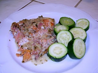 Salmon with Coconut Cream Sauce