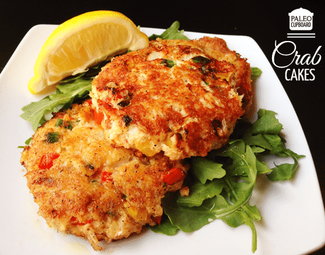Paleo Crab Cakes with Lemon Vinaigrette