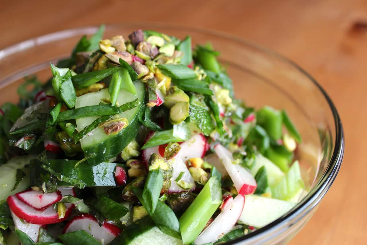 Cucumber Mint Salad with Lime Dressing