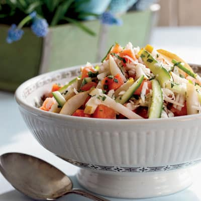 Sweet and Tangy Melon Slaw